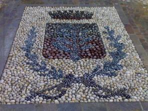 mosaico in ciottoli  naturali