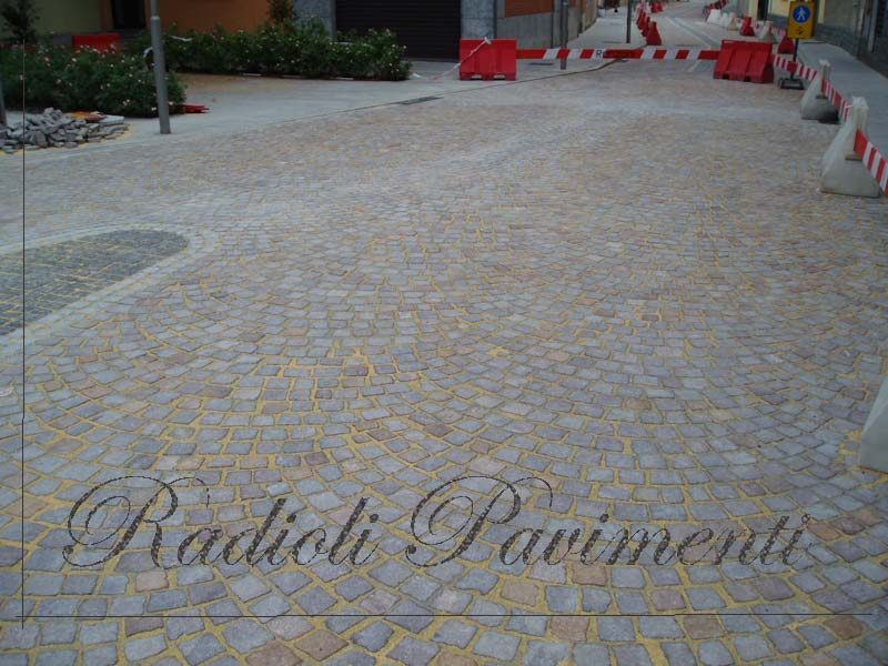 pavimentazione in pietra, porfido