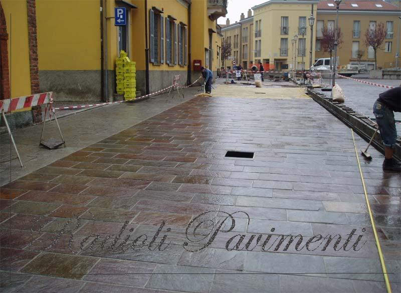 pavimentazione in porfido con sistema Mapestone