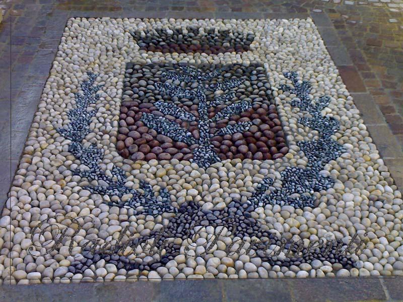 mosaico in ciottoli comune di Bernareggio