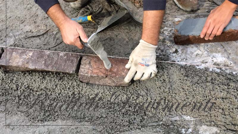 binderi in porfido del Trentino piano cava coste a spacco