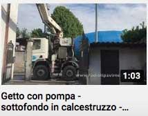 video - getto con pompa per calcestruzzo