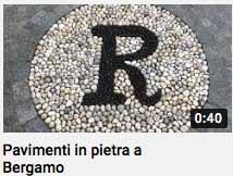 video_ pavimento in pietra a Bergamo