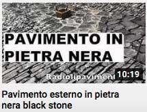 video - pavimento in pietra nera