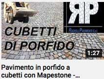 video - pavimento in porfido a cubetti con Mapestone