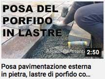 video - posa del porfido in lastre con mapestone