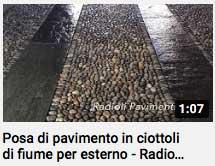video - posa di pavimento in ciottoli per esterno