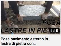 video - posa lastre in pietra con Mapestone