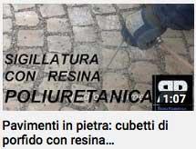 video - sigillatura della pietra con resina poliuretanica