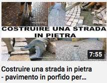 video - costruire una strada in pietra